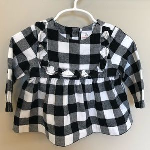 Hannah Andersson Flannel Popover Top, 80/24Month